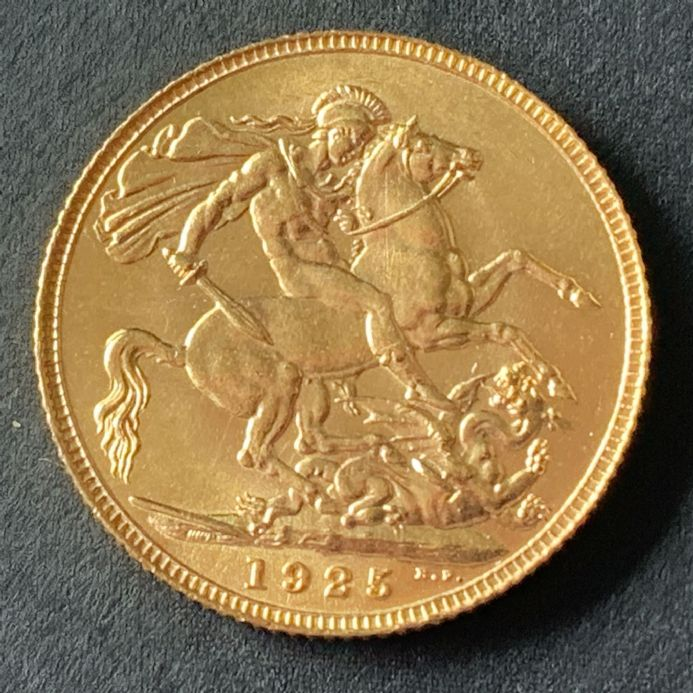 1925 Gold Sovereign London Mint